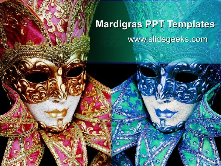 mardigras ppt templates, Powerpoint templates