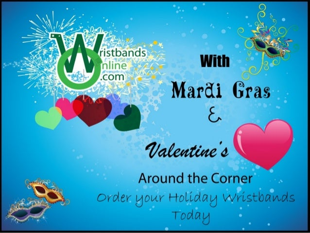 Mardi gras & valentine's day wristbands