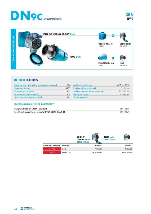 Marechal Plugs Sockets Decontactors Catalogue on