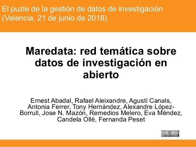 Tècniques instrumentals (Grau d'Antropologia) – Curs 2015-16El puzle de la gestión de datos de investigación (Valencia, 21...