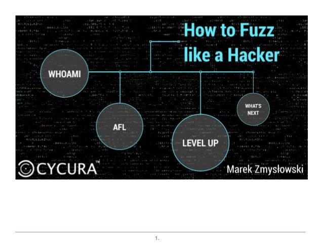 How to Fuzz like a Hacker Slide 1