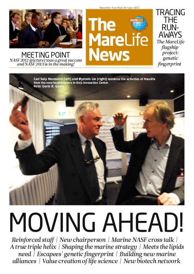 NASF PRE-CONFERENCE • March 6 • 2012 The MareLife News Newsletter from Marelife • July • 2012 MOVING AHEAD! MEETING POINTN...