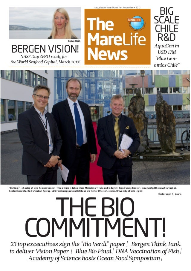 NASF PRE-CONFERENCE • March 6 • 2012 The MareLife News Newsletter from Marelife • November • 2012 THEBIO COMMITMENT! BERGE...