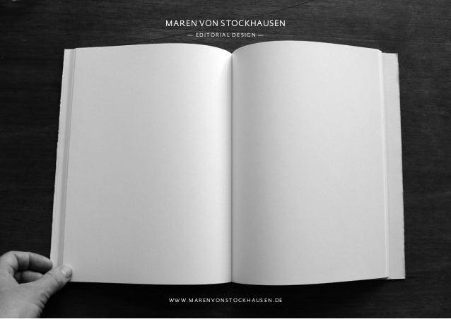 Maren von stockhausen— e d i to r ia l d e s i g n —w w w. m a r e n vo n s to c k h au s e n . d e