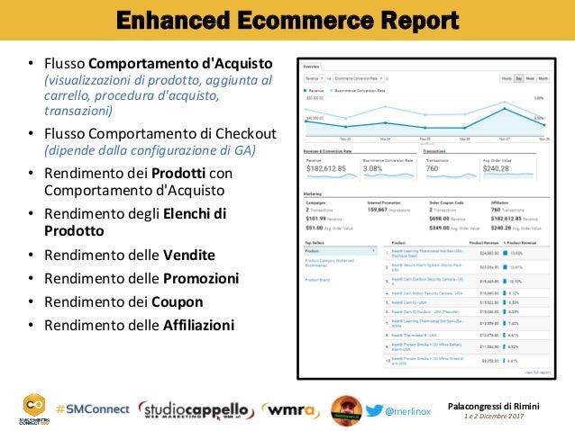 Palacongressi di Rimini 1 e 2 Dicembre 2017@merlinox Enhanced Ecommerce Report Flusso• Comportamento d'Acquisto (visualizz...