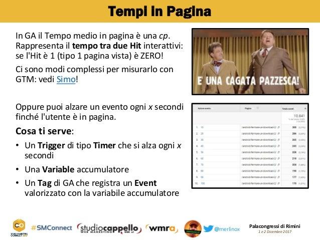 Palacongressi di Rimini 1 e 2 Dicembre 2017@merlinox Tempi in Pagina In GA il Tempo medio in pagina è una cp. Rappresenta ...
