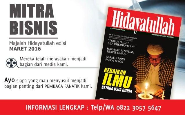 SUARA HIDAYATULLAH | www.hidayatullah.com18 Ustadz Abdurrahman Muhammad Pimpinan Umum Hidayatullah I bnu Katsir dalam tafs...