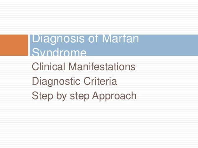 the clinical description of the marfan syndrome He is sent for further surgical consultation and is tested for suspected marfan syndrome introduction: clinical definition  this is a visual review of marfan .
