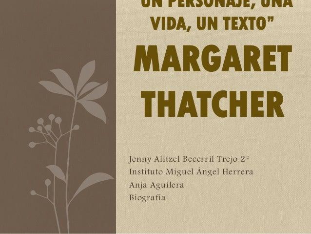 "Jenny Alitzel Becerril Trejo 2° Instituto Miguel Ángel Herrera Anja Aguilera Biografía ""UN PERSONAJE, UNA VIDA, UN TEXTO"" ..."