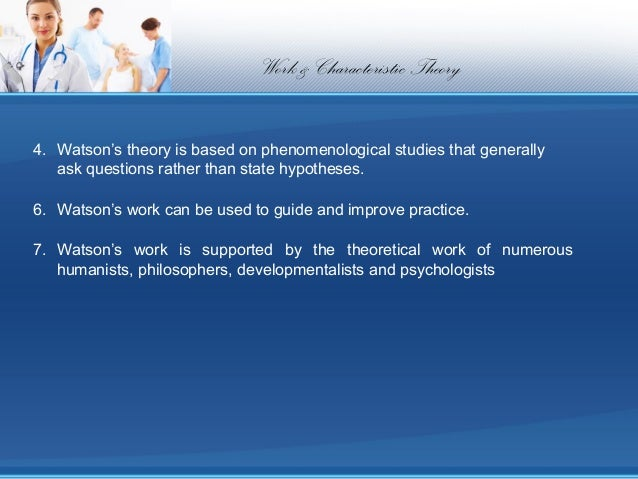 jean watson s theory of caring essay An analysis and application of jean watson's theory of human caring.