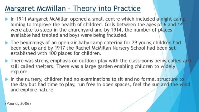 mcmillan outdoor play