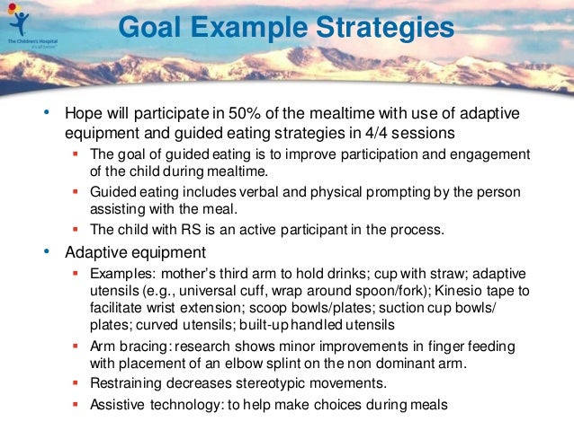 margaret spring occupational therapy goals for rett clinic patients