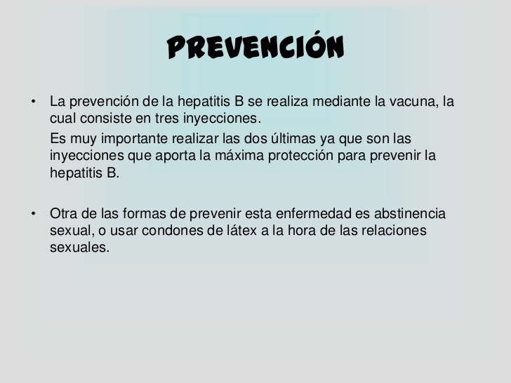 La hepatitis como ETS
