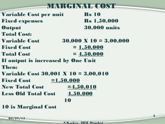 costs and marginal cost Let's assume the market price is p, you are currently selling q units, and the last  unit you sold had a marginal cost c so that c  p is q a good production decision .