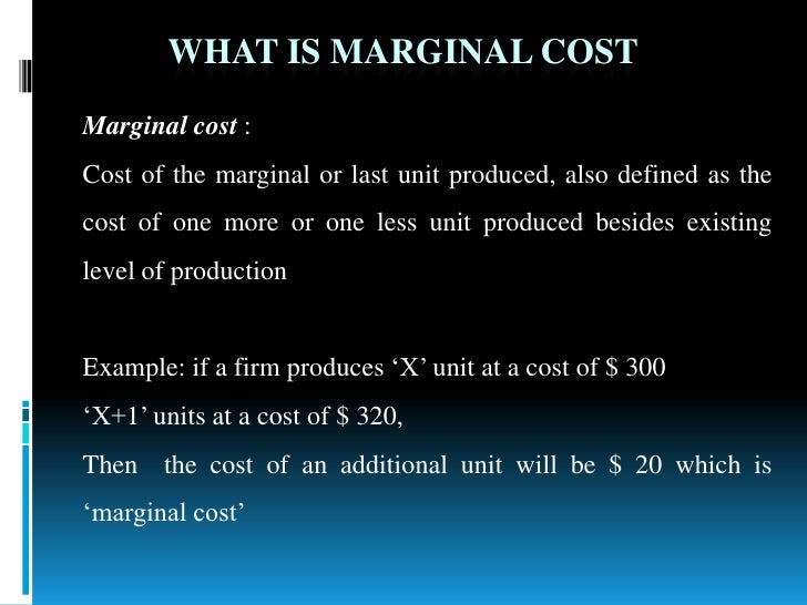 Marginal costing for decision making techniques.