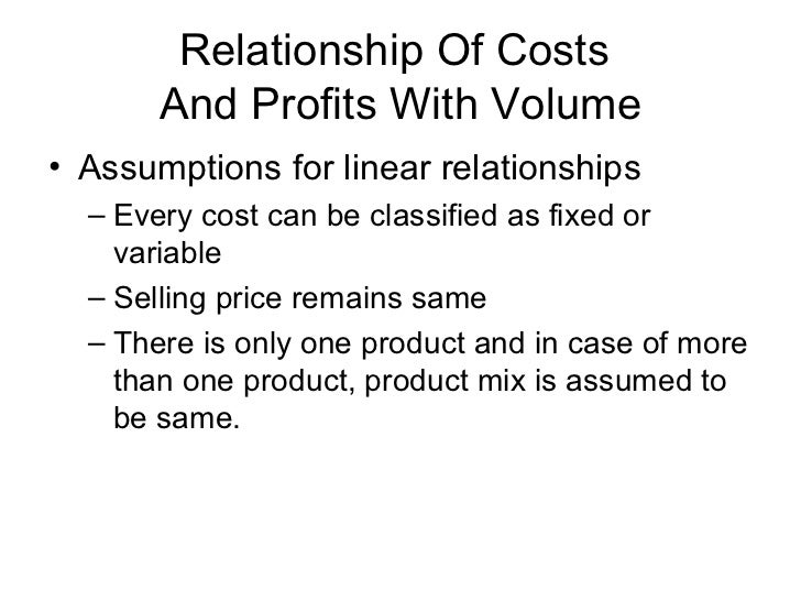 marginal cost and product relationship management