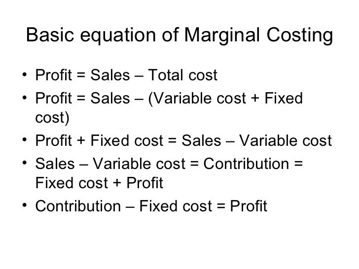 how to get marginal cost formula