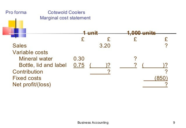 marginal costing case study Marginal cost-based electricity tariffs: theory and case study of india mark w gellerson southern illinois university, usa i introduction the economic rationale for marginal cost pricing by electric utilities is widely recognized and accepted marginal cost should be calculated on the basis of future costs of capacity.