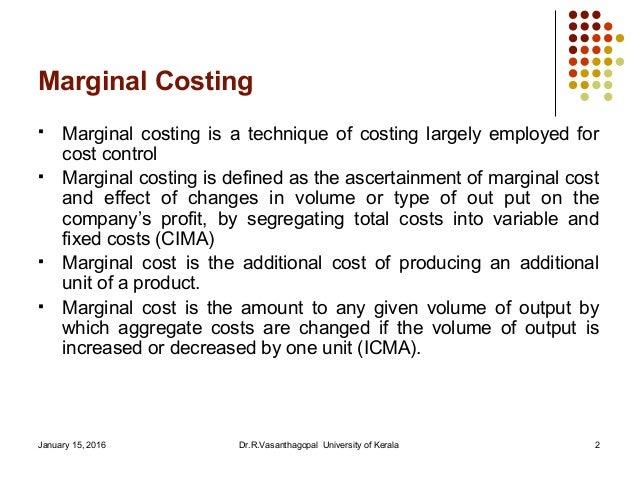 Marginal costing |authorstream.