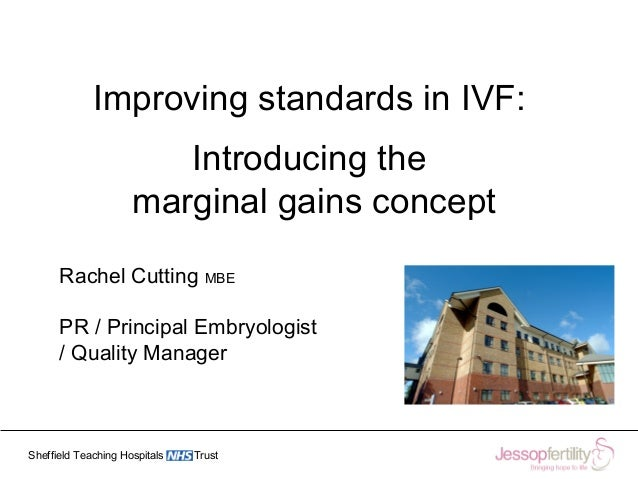 Sheffield Teaching Hospitals Trust Improving standards in IVF: Introducing the marginal gains concept Rachel Cutting MBE P...