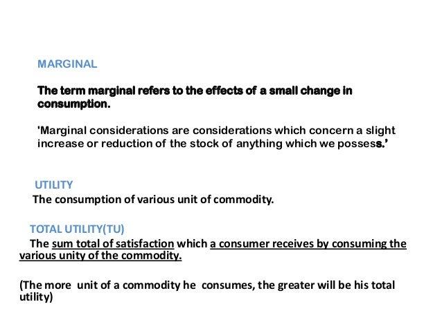 law of diminishing Marginal utility Slide 2