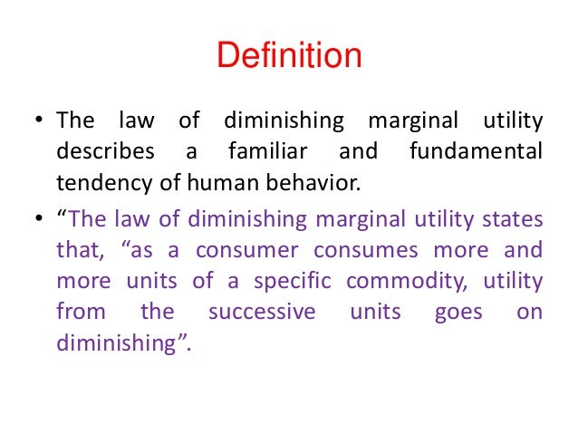 Definition U2022 The Law Of Diminishing ...