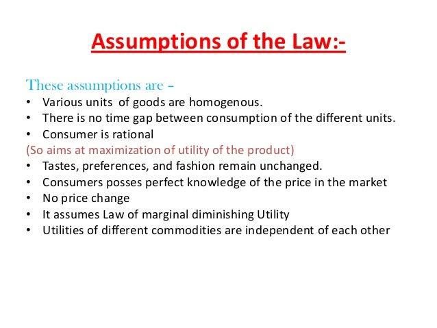 Law Of Diminishing Marginal Utility Pdf