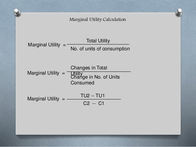 total utility and marginal utility formula