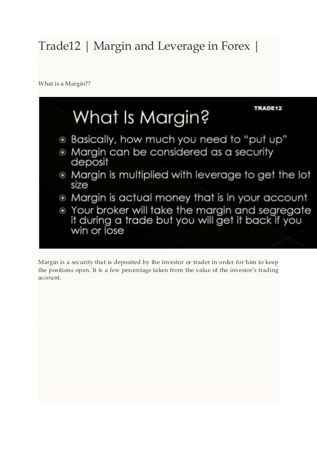 What is margin used in forex