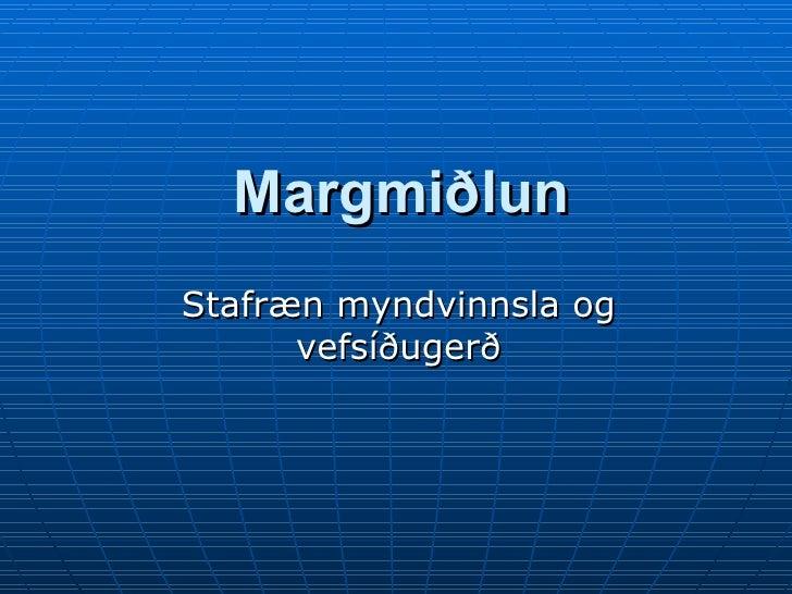 Margmiðlun Stafræn myndvinnsla og vefsíðugerð