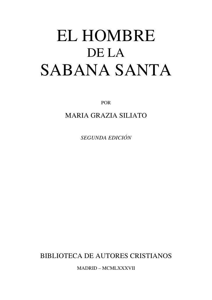 Título original: L'UOMO DELLA SINDONE  La traducción ha sido realizada directamente del italiano porMIGUEL ANGEL VELASCO.C...