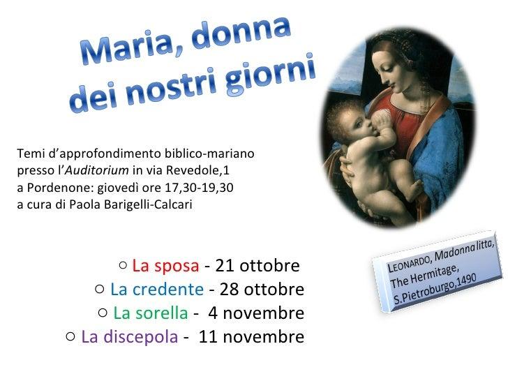 Maria, La Discepola