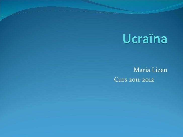 Maria LizenCurs 2011-2012