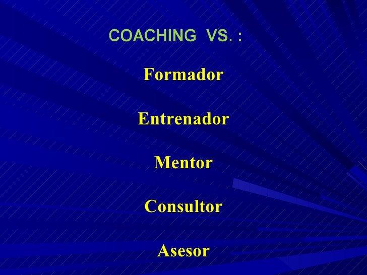 Formador Entrenador Mentor Consultor Asesor