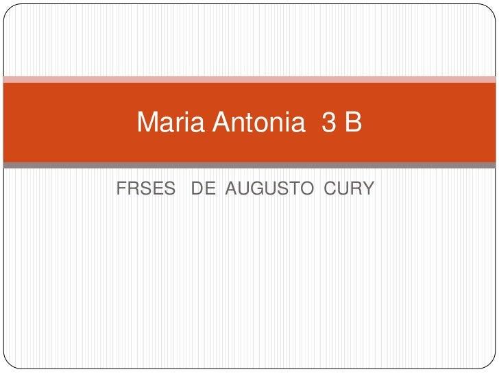 Maria Antonia 3 BFRSES DE AUGUSTO CURY