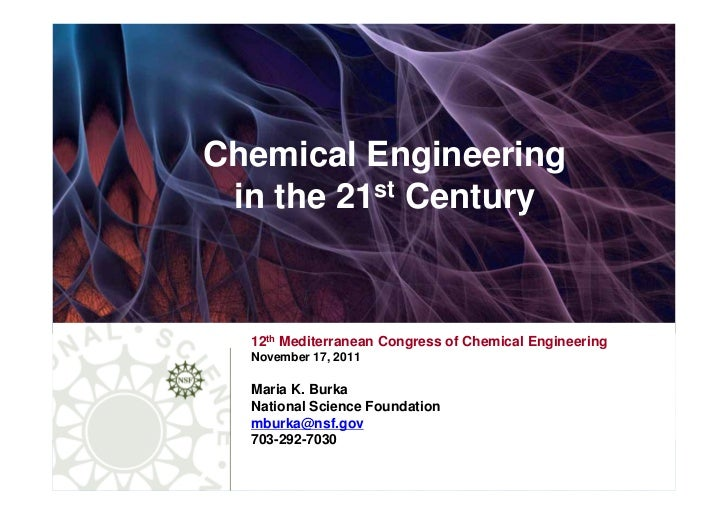 Chemical Engineering in the 21st Century  12th Mediterranean Congress of Chemical Engineering  November 17, 2011  Maria K....