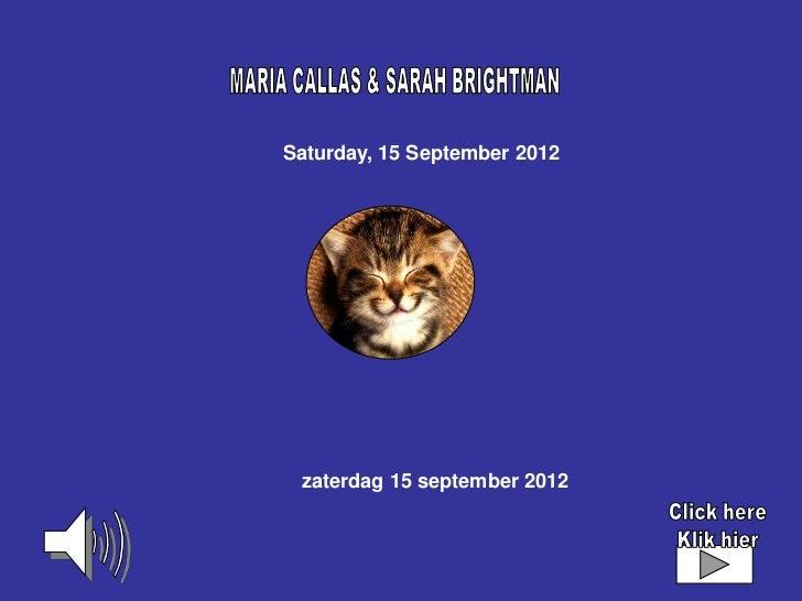 Saturday, 15 September 2012 zaterdag 15 september 2012