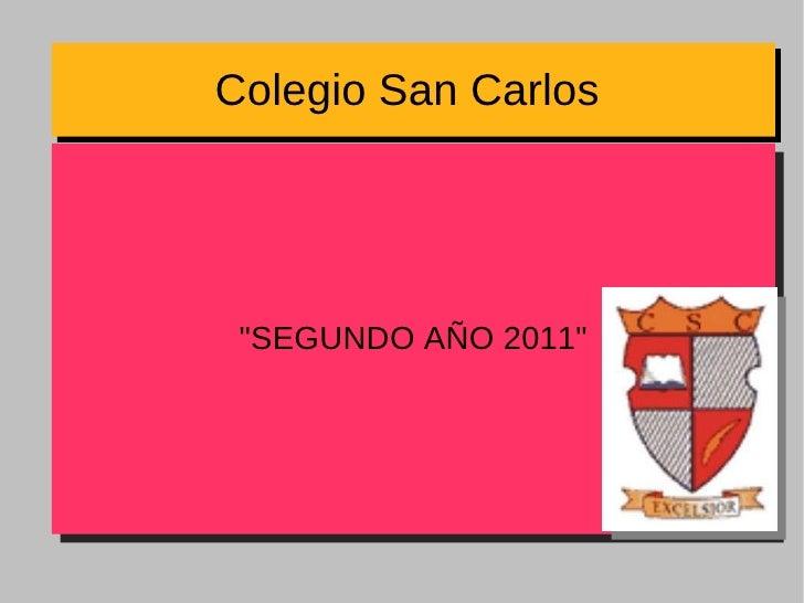 """Colegio San Carlos  """"SEGUNDO AÑO 2011"""""""