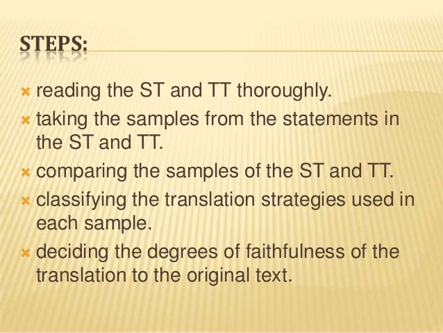 preliminary study on tactics of translating Recognizing the tactics of the enemy  we need christians who are diligent in the study of the bible and test everything that comes out of the teacher's mouth .