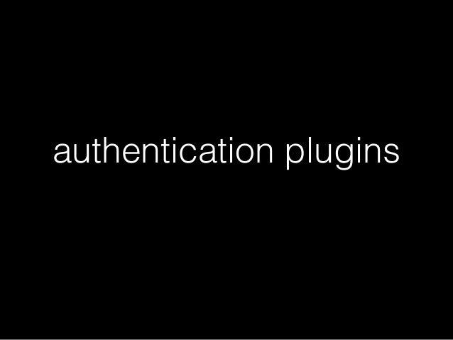 authentication plugins