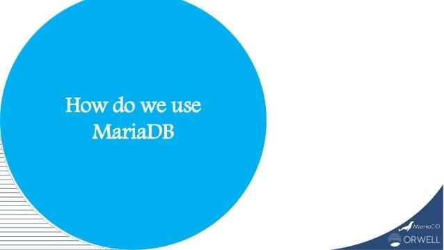 How do we use MariaDB