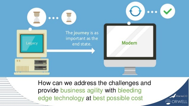 How can we address the challenges and provide business agility with bleeding edge technology at best possible cost The jou...