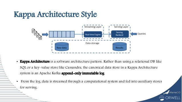 Kappa Architecture Style • Kappa Architecture is a software architecture pattern. Rather than using a relational DB like S...
