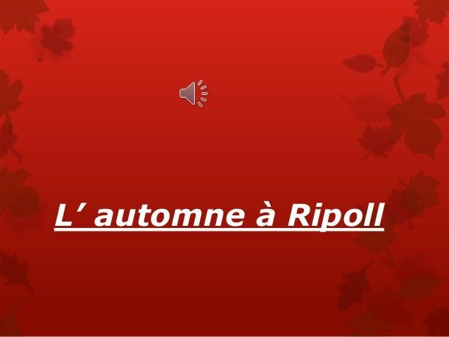 L' automne à Ripoll