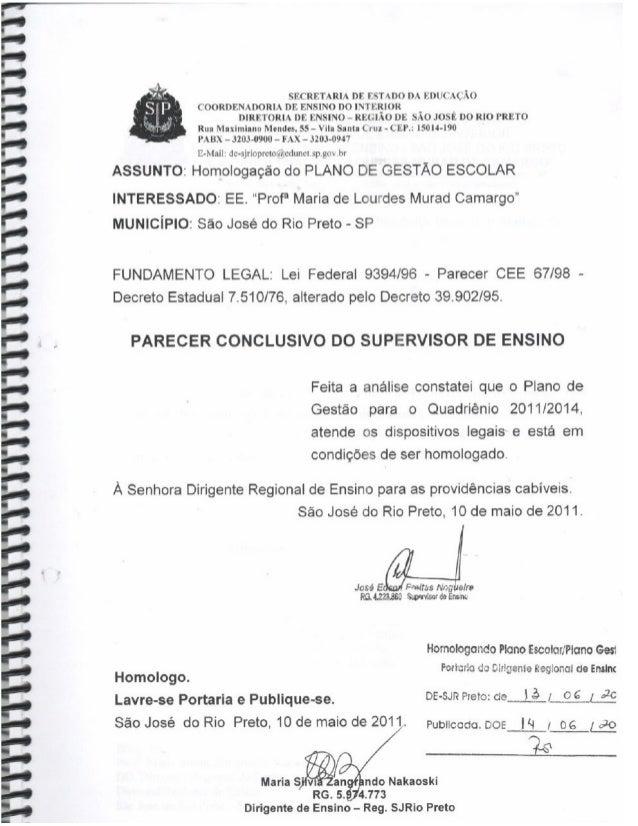 Plano Gestão EE Profa Maria de L M Camargo