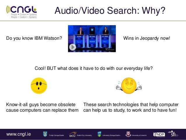 Audio/Video Search: Why? What? How? Slide 2