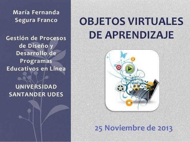 María Fernanda  Segura Franco  Gestión de Procesos  de Diseño y  Desarrollo de  Programas  Educativos en Línea  UNIVERSIDA...