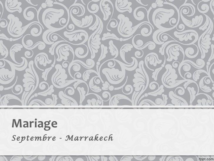 MariageSeptembre - Marrakech