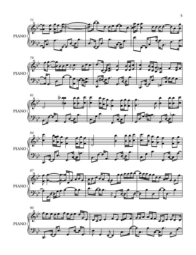 In dreams piano sheet music pdf
