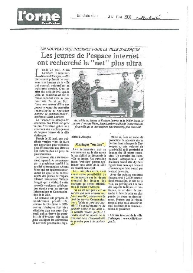 Mariage sur le net 10 juin 2000